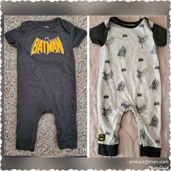 Batman Infant 1pc Onesie Outfit, Lot of 2